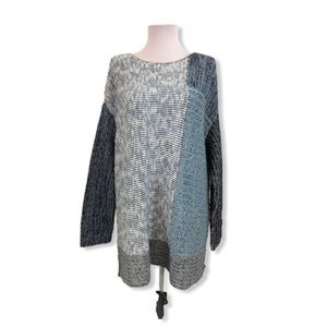 Style & Co. NWT Tunic Sweater Elbow Sleeves Blue